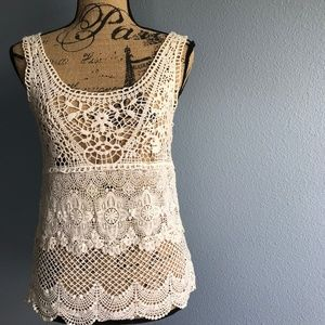 American Eagle Outfitters Crochet Tank Size XS
